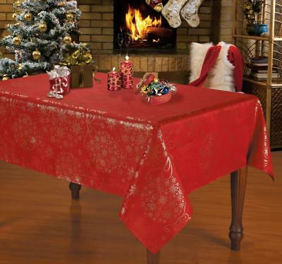 [50%off] Christmas Jacquard Printed Tablecloth- NL17216