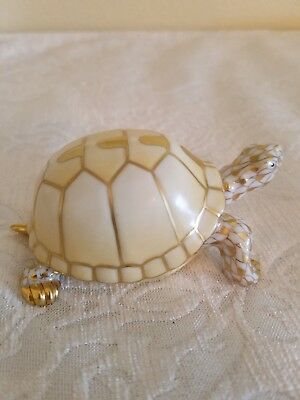 Herend Guild Gold Fishnet Box Turtle 2007