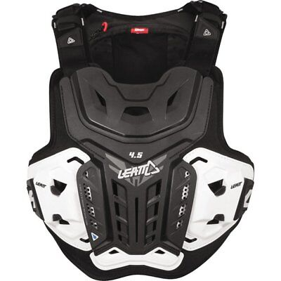 Black/White Leatt 4.5 Hydra Chest Protector/Hydration Pack Motorcycle Protection