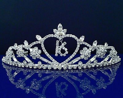 Sweet 16 Birthday Princess Party Prom Crown Crystal Tiara 5113