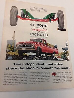 1965 Ford Truck Twin I Beam Ad - Vintage Original
