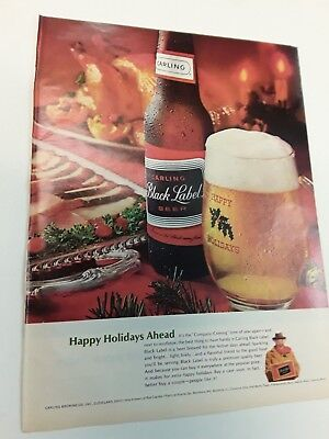 1965 Carling Black Label Beer - Vintage Original Ad
