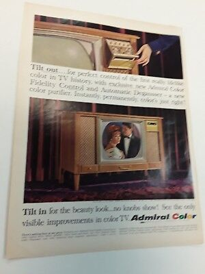 1965 Color Tv Admiral Model Console - Vintage Original Ad