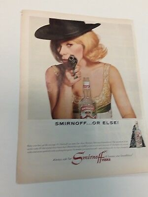 1965 Smirnoff Or Else  - Vintage Original Ads