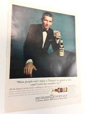 1965 Spock With Cocktail  - Vintage Original Ads