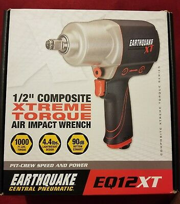 "Earthquake 1/2"" Composite Xtreme Torque Air Impact Wrench EQ12XT NEW in Box"
