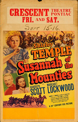 Susannah of the Mounties 1939 14x22 Orig Movie Poster FFF-65465 Never Folded