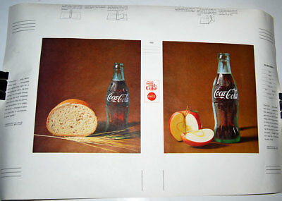 """Lot of 4 Vintage Coca Cola Book Cover  """"Things go better with Coke"""" 1960s"""