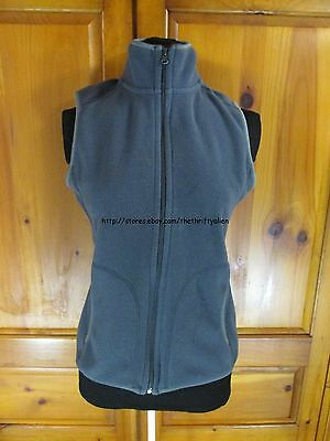 Old Navy Fleece Zipper Vest - Womens Size S - Dark Gray