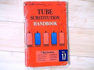 antique TUBE substitution hand   book,printed in year 1974.USA.