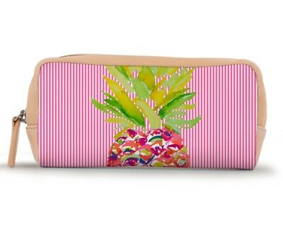 Barrington Gifts Cosmetic / Accessories Bag Pinneapple Pink Striped - BRAND NEW!
