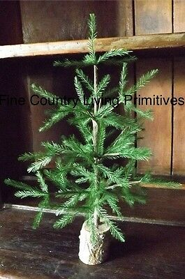 Primitive Country Colonial Christmas Reproduction Feather Tree 16""