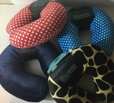 Livings Solutions Super Soft Neck Support Travel Pillow-With Snap- Choose Color