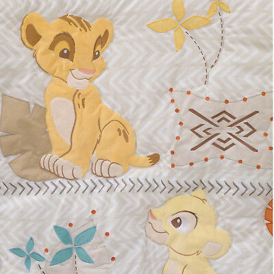 Disney Lion King Applique Luxury  ( Crib Comforter Only ) Simba - Circle of Life