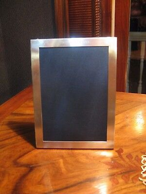 "Vintage Cartier 5X7 Sterling Silver Picture Frame-Engraved-""42Nd Street 1983"""