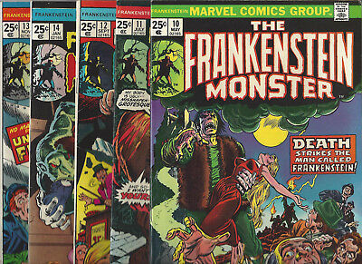 The Frankenstein Monster # 10 11 12 13 14 Lot of 5 FN or better cond MVS Intact