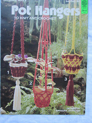 "Leisure Arts leaflet, "" Pot Hangers"""