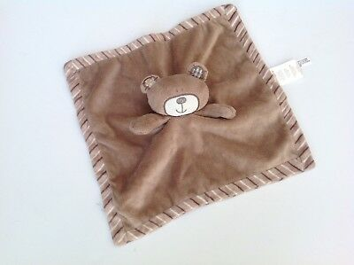 Babies R Us Plush Brown Bear Security Blanket Lovey Striped Koala
