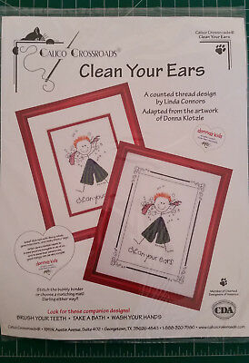Calico Crossroads - Clean Your Ears - cross stitch pattern