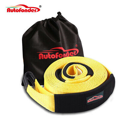 30ft 3'' 30000lbs Snatch Strap Recovery Tow Strap Winch Extension 4WD Heavy Duty