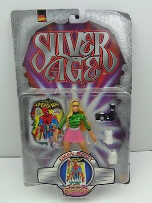 Marvel Comics Silver Age Gwen Stacy Figure 1999 Spider Man New