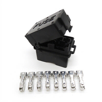 Auto fuse box 4 road engine compartment insurance car fuse holder Car seat relay