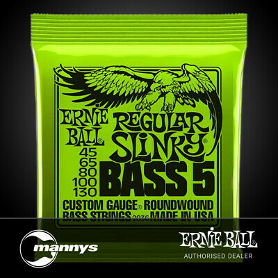 Ernie Ball Regular Slinky 5-String Nickel Wound Electric Bass Strings - (45-130)