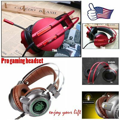 3.5mm Gaming Headset Mic LED Headphones Stereo Surround for PS3 PS4 Xbox 360 VIP