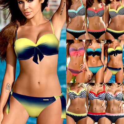 US Women sexy Bikini set push up padded swimwear swimsuit bathing suit Beachwear