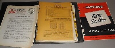 Hastings Piston Rings Specifications Guide & Service Tool Plan Kit 1943- 1947