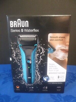 Braun WaterFlex WF2s Electric Wet and Dry Series 5 Shaver Blue Brand New Boxed