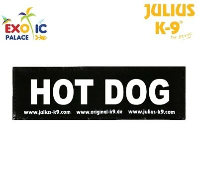 Julius-K9 2 Etichette In Velcro Patch Hot Dog Per Pettorina Cane Idc Belt Power