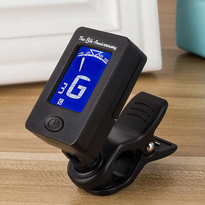 Pro Chromatic LCD Clip-on Digital Electric Guitar Tuner For Guitar Bass Violin