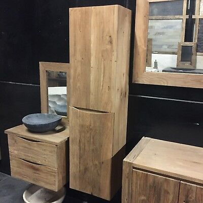 waschtisch waschbeckenunterschrank teak holz massiv badm bel 140 badezimmer eur 720 00. Black Bedroom Furniture Sets. Home Design Ideas