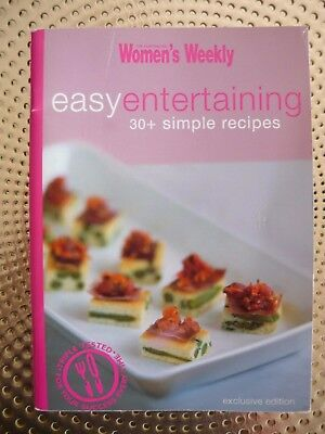 WOMENS WEEKLY Easy Entertaining Recipe Book EUC Free post