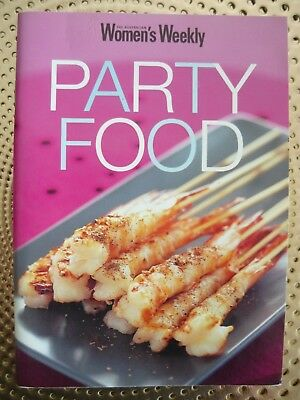 WOMENS WEEKLY PARTY FOOD Recipe Book EUC Free post