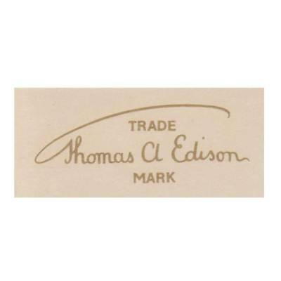 'THOMAS A EDISON' signature decal - faithful water-slide reproduction from 1960