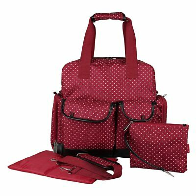 ECOSUSI Baby Diaper Bag Backpack Shoulder Bag Nappy Tote Bag Red