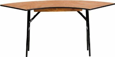 Flash Furniture 5.5 ft. x 2 ft. Serpentine Wood Folding Banquet Table