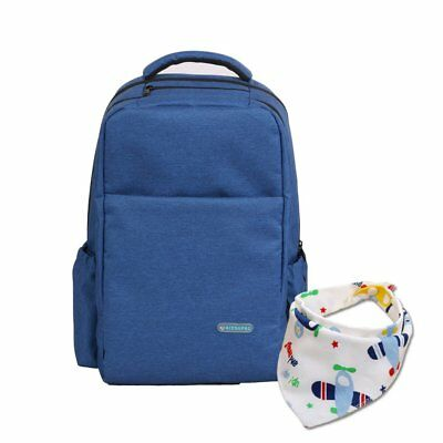 Multi-functional Baby Diaper Backpack Bag for Mom Dad with Baby Bib,Large Baby