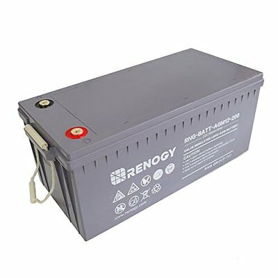 Renogy Deep Cycle AGM Battery 12 Volt 200Ah for RV Solar Marine and Off-grid