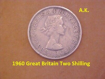 1960 Great Britain Two Shilling