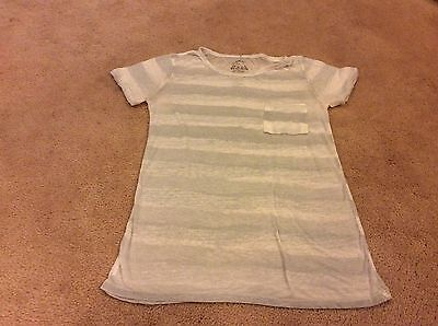 AN ORIGINAL BY WELL WORN LOS ANGELES White stri sheer burnout t shirt S