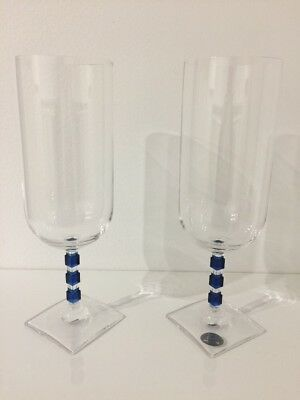 Two Vintage Crystal Stemware Glasses From Austria Vienna Inn Cystal