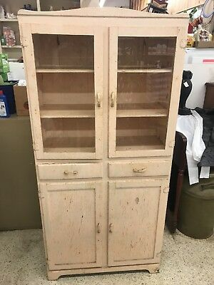china cabinet antique vintage 1940's