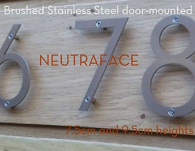 NEUTRAFACE Stainless Steel Door Numbers -  FAST, FREE UK DELIVERY