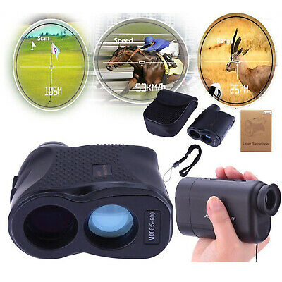 600M Telescope Laser Range Finder Measure Distance Height Speed Meter Waterproof