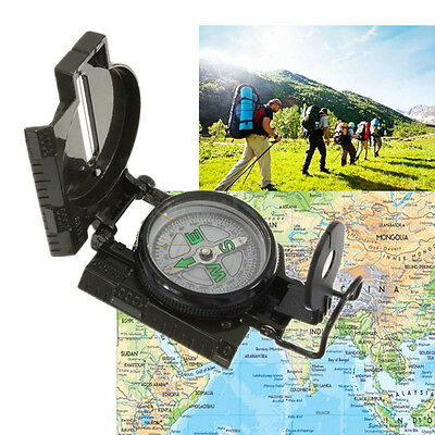 Metal Pocket Outdoor Compass Military Army Gear Hiking Camping Survival Marching
