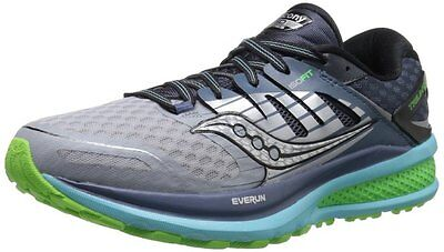 Saucony TRIUMPH ISO 2 Womens Running shoes size 6 NEW GREY BLUE SLIME