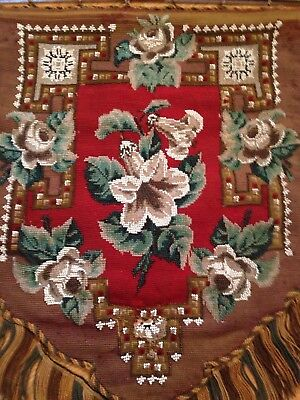 Antique Victorian Beadwork woolwork many pieces choice
